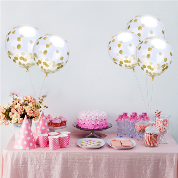 Gold Konfetti Ballon 10er Set