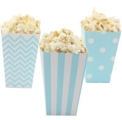 Popcorn Boxen blau