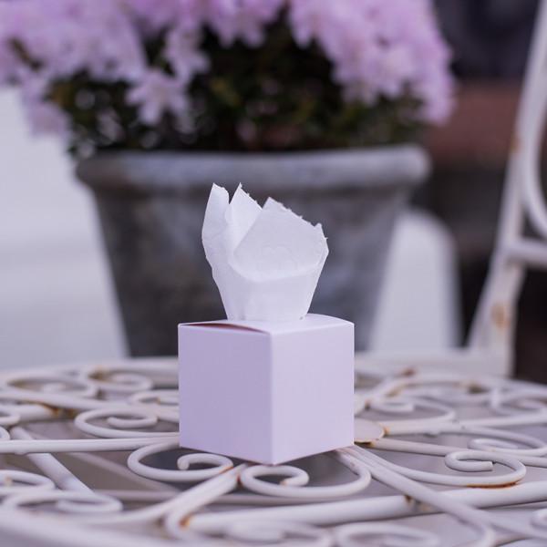Freudentränen Taschentuch Box Rose