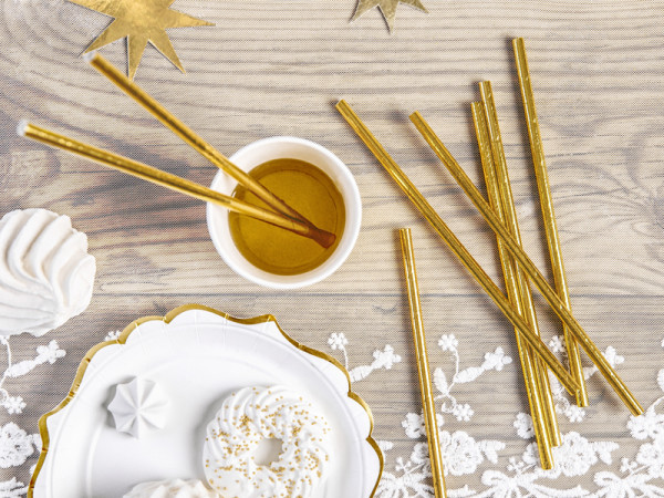 Röhrchen Set Gold