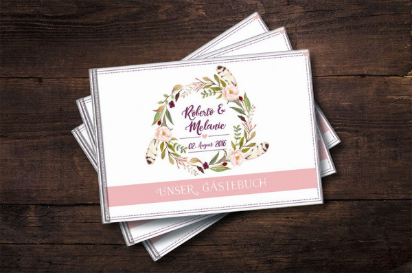 Gästebuch Hochzeit | Individualisiert