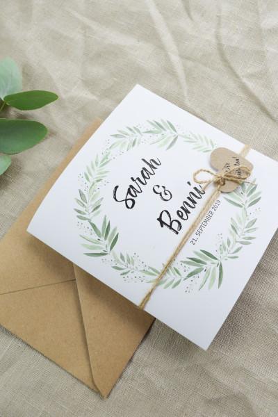 Einladungskarte Vintage Hochzeit