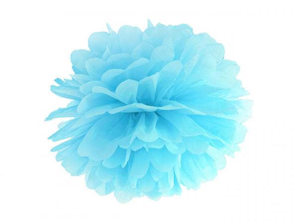 10 Set blau Pompoms