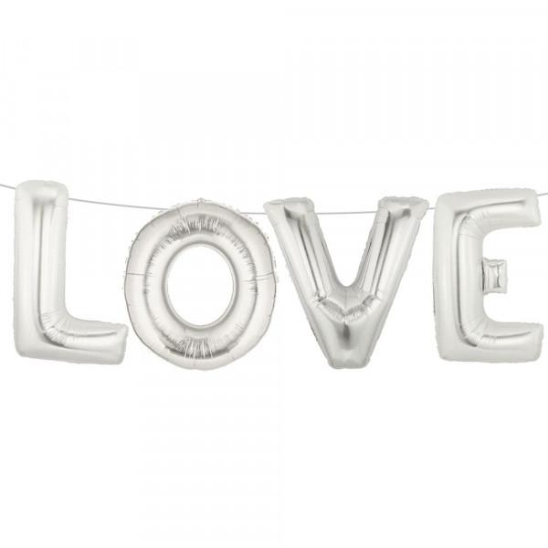 Folienballon Love Schriftzug