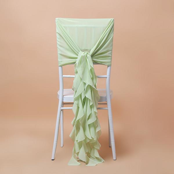 2er Set Stuhlhusse grün für Braut & Bräutigam