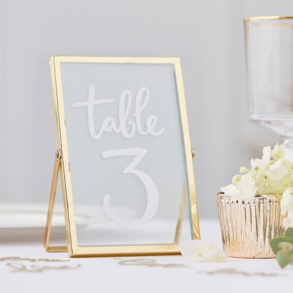 Tischnummer Bilderrahmen