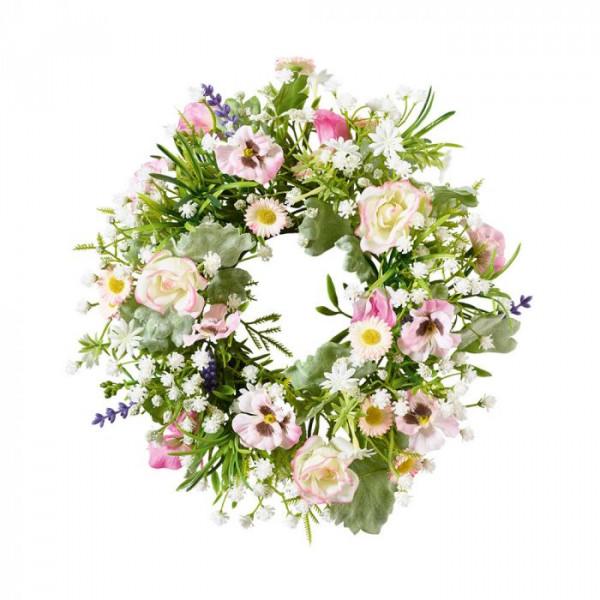 Blumenkranz mit rosa Blumen