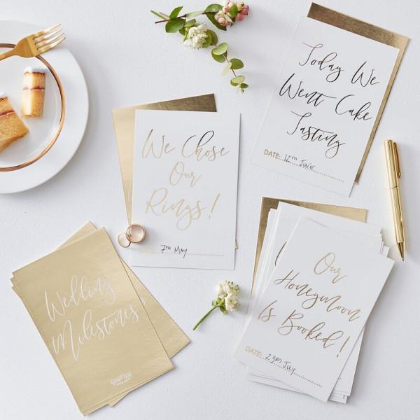 Meilenstein Karten Set Hochzeit