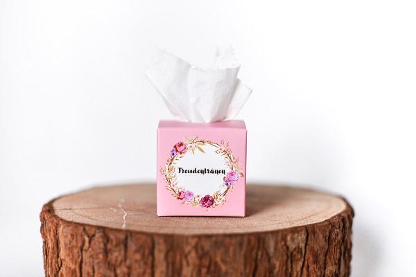 Freudentränen Box rosa