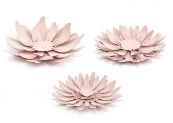 DIY Papierblume rosa