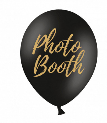 Photo Booth Ballons Black