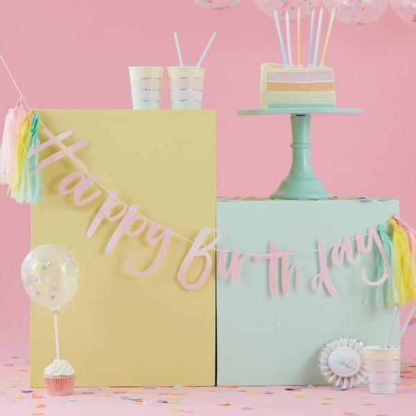 Happy Birthday tassel Girlande
